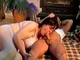 Fat Old Woman With Nasty Hairy Cunt Fucks And Sucks