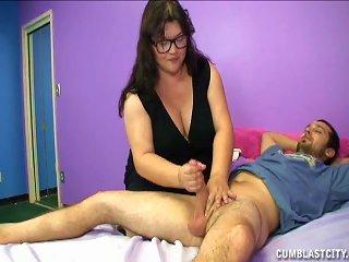 Cute Brunette With Fat Body Masturbates A Dick